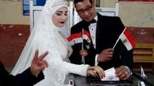 شاهد حفلات زفاف واحتفالات أمام لجان انتخابات رئاسة مصر