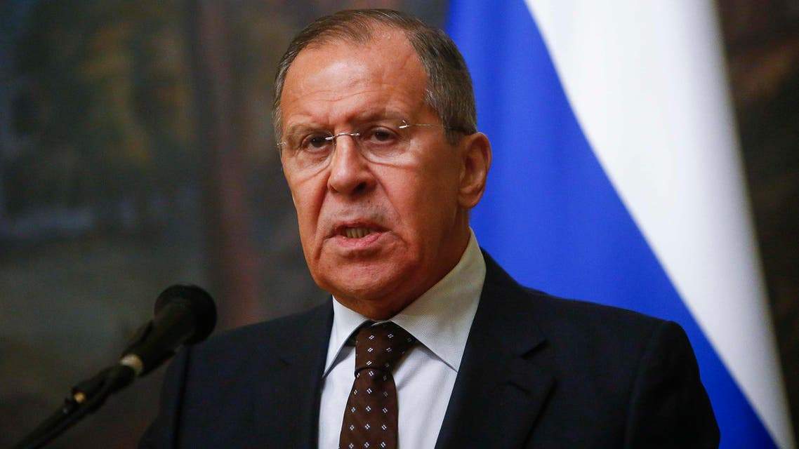 Russian Foreign Minister Sergei Lavrov speaks during a news conference after a meeting with his Indonesian counterpart Retno Marsudi in Moscow, Russia March 13, 2018. REUTERS/Sergei Karpukhin
