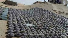 الجيش اليمني تنتزع نحو 2000 لغم وعبوة ناسفة بالجوف