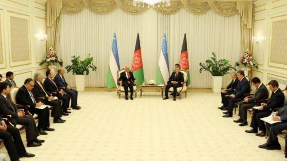روئسای جمهور افغانستان و ازبکستان گفتگو کردند