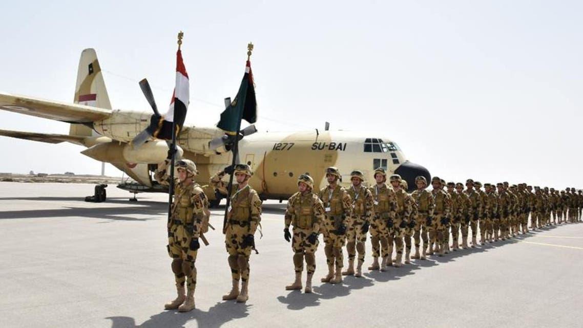 مناورات الجيش المصري بالسعودية