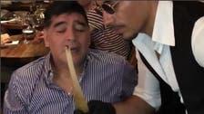 WATCH: Maradona gazes in awe at Salt Bae while serving his beef chops in Dubai