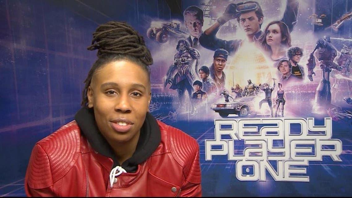 Al Arabiya's William Mullally FaceTimes with Ready Player One star Lena Waithe. (Al Arabiya)