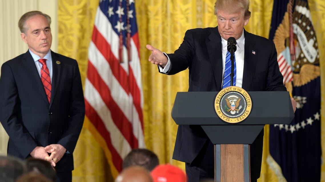 Trump shulkin. (AP)