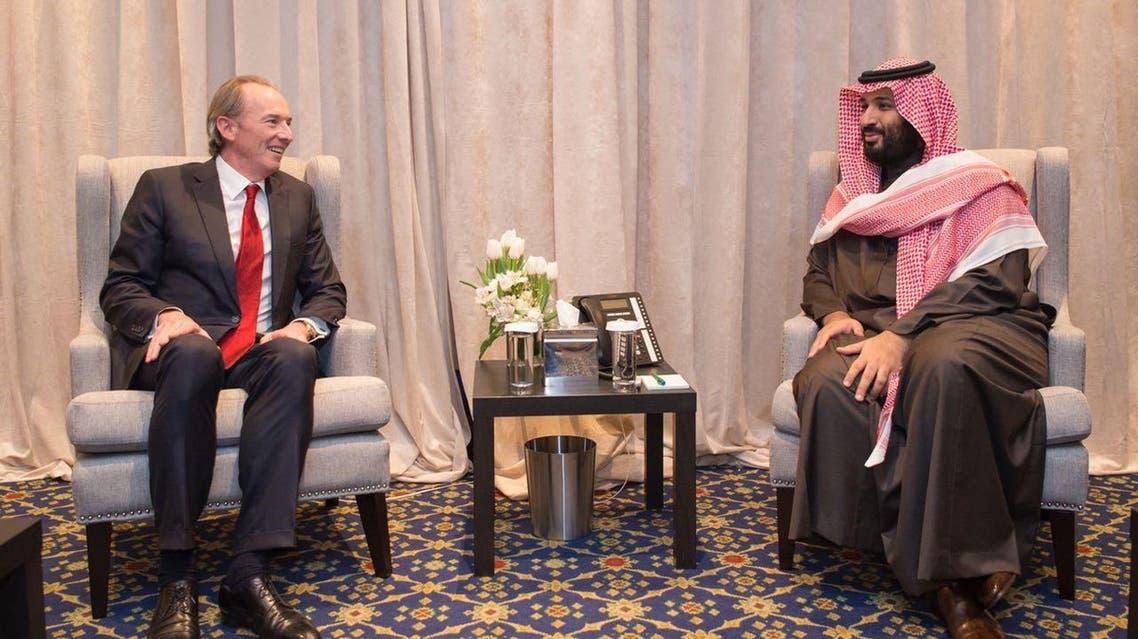محمد بن سلمان مع جيمس غورمان في نيويورك