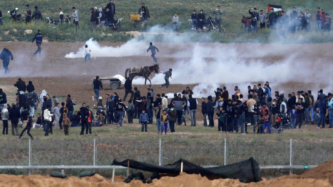 الاحتلال يقمع المتظاهرين في غزة