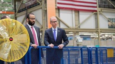 شاهد محمد بن سلمان يتجول في مصانع طائرات بوينغ العالمية