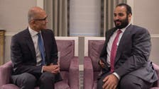 Saudi Crown Prince meets with Microsoft President Satya Nadella