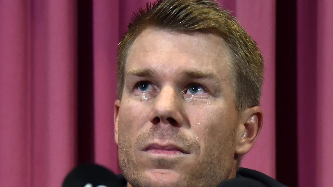Australian cricketer David Warner listens to a question at a press conference at the Sydney Cricket Ground (SCG) in Sydney on March 31, 2018, after returning from South Africa. Former Australia vice-captain David Warner apologised in tears on March 31 for his role in a ball-tampering scandal (AFP)