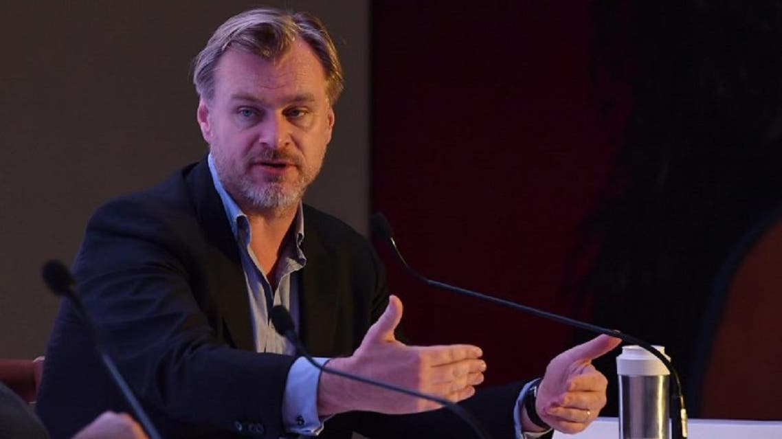 Hollywood filmmaker and director Christopher Nolan speaks during a panel discussion on the importance of celluloid in the digital age - – 'Reframing the Future of Film' in Mumbai on March 31, 2018. (AFP)