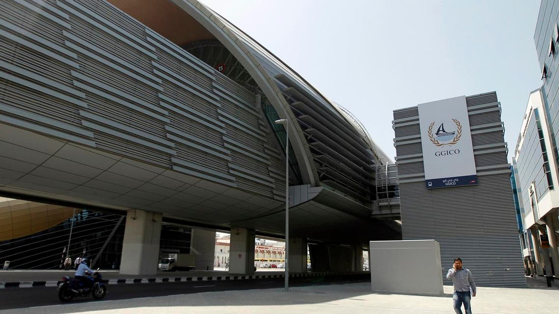 A metro station named after Gulf General Investments Co. (GGICO) is seen in Garhoud neighbourhood of Dubai. (Reuters)