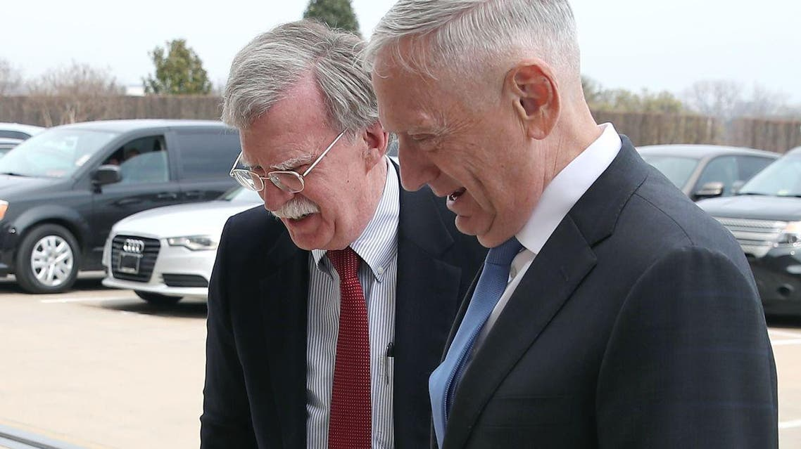 The two laughed as they entered the Pentagon for their first official meeting.