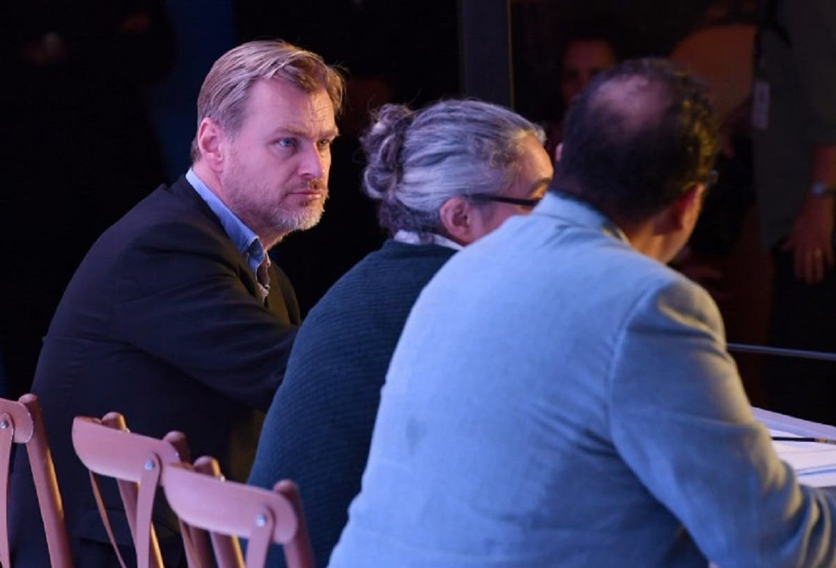 Hollywood filmmaker and director Christopher Nolan looks on during a panel discussion on the importance of celluloid in the digital age – 'Reframing the Future of Film' in Mumbai on March 31, 2018. (AFP)