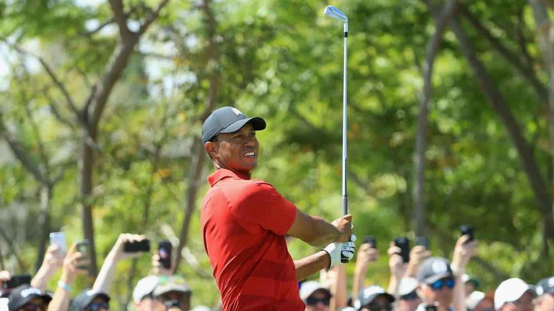 Tiger Woods plays his shot from the third tee during the final round at the Arnold Palmer Invitational Presented By MasterCard at Bay Hill Club and Lodge on March 18, 2018 in Orlando. (AFP)