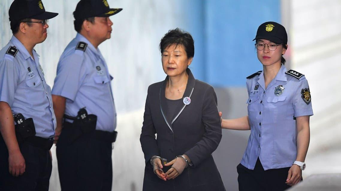 741267-رئيسة-كوريا-الجنوبية-السابقة-تصل-إلى-المحكمة-فى-سيول
