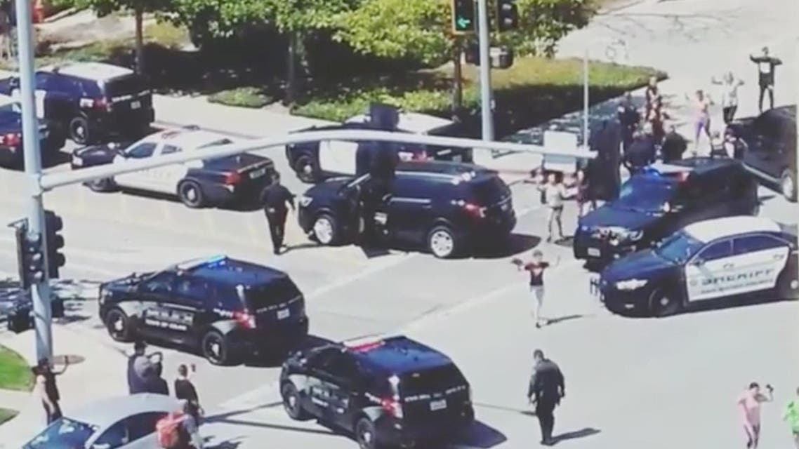 Officials are seen following a shooting at the headquarters of YouTube, in San Bruno, California, U.S., April 3, 2018. (Reuters)