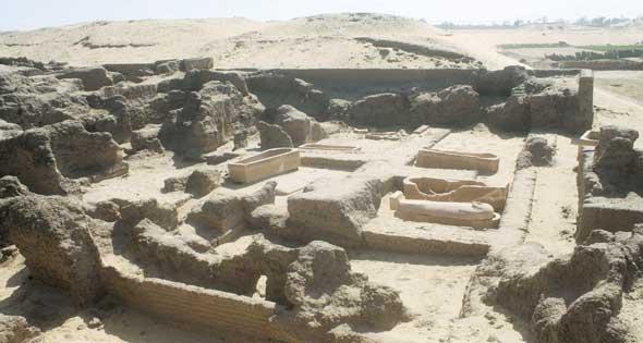 صورة الموقع الأثري قبل تجريفه