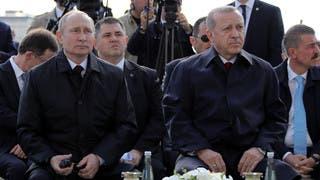 أردوغان وبوتين يدشنان بناء أول محطة كهرباء نووية بتركيا