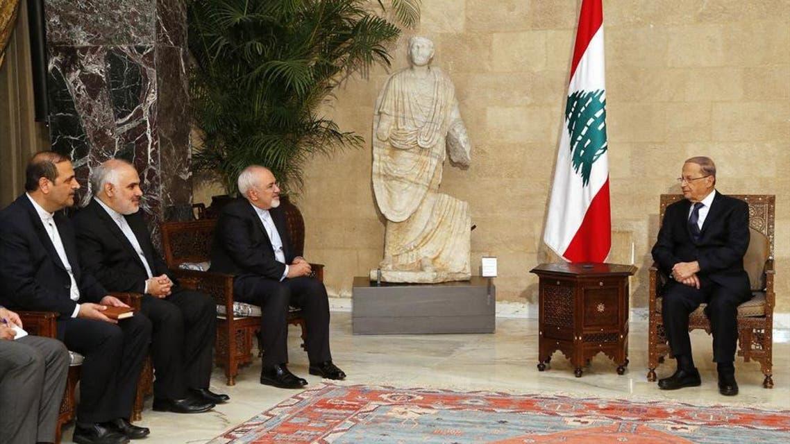 ميشل عون يستقبل وزير الخارجية الإيراني والوفد المرافق