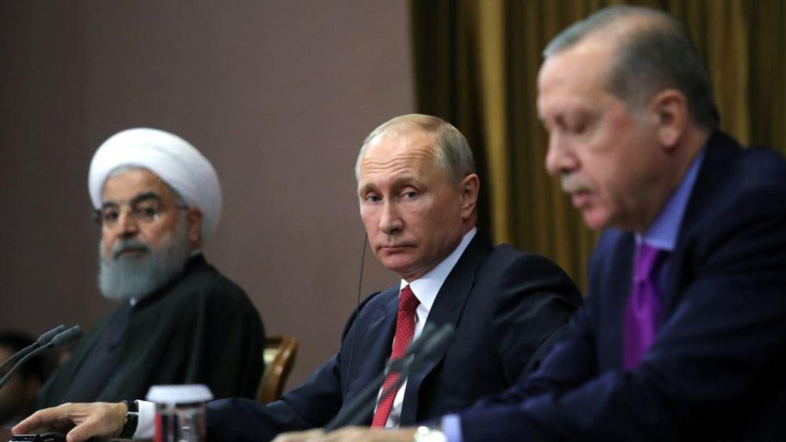 تركيا - إيران - روسيا - أردوغان - بوتين - روحاني 3