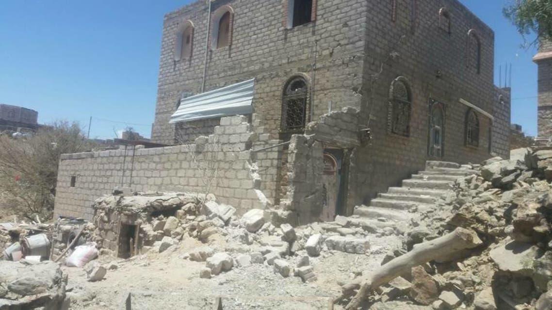 قصف الحوثيين العشوائي على منازل المدنيين في البيضاء