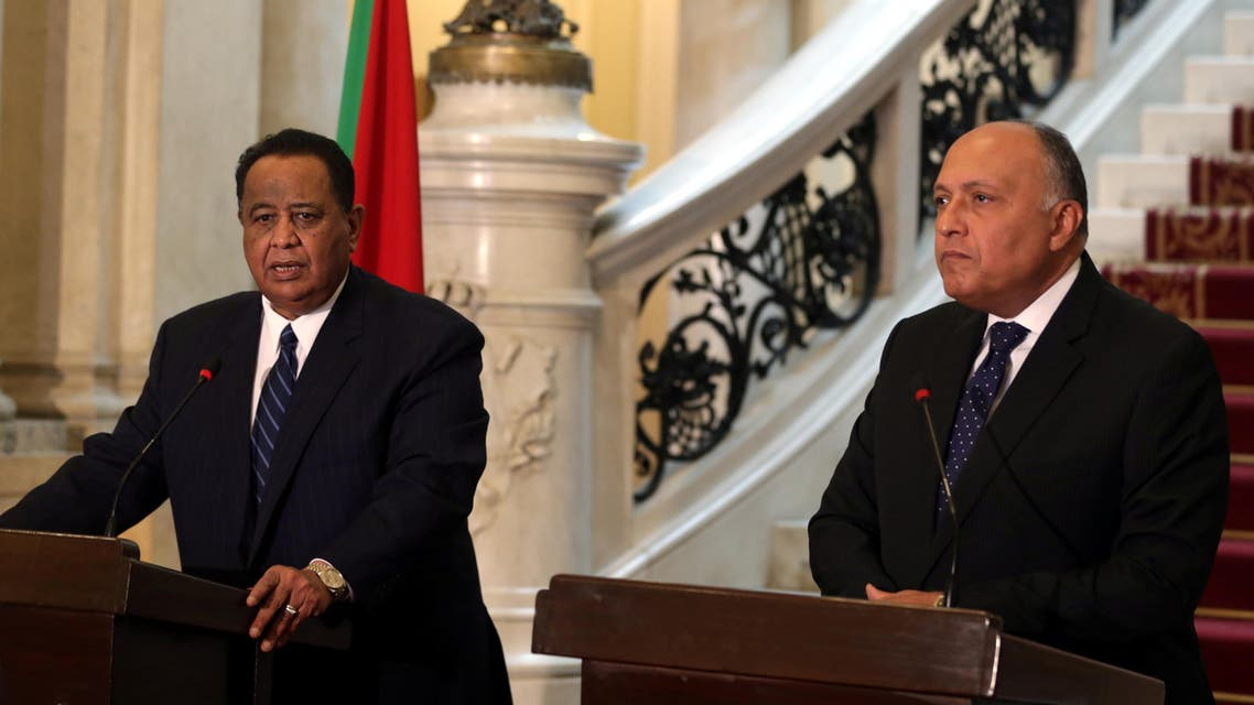 Sudan and Egypt foreign ministers. (Reuters)