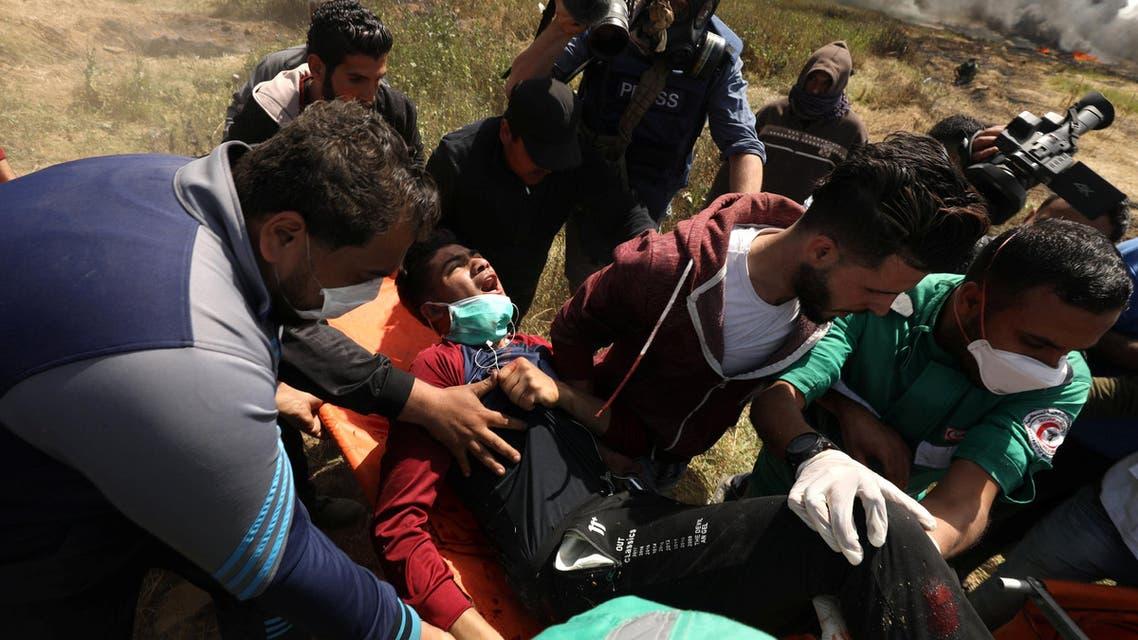 سقوط 40 جريحا في مواجها عند حدود غزة