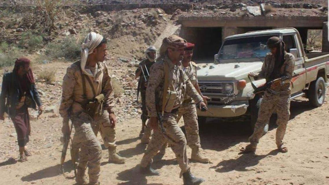 الجيش اليمني في منطقة قانية