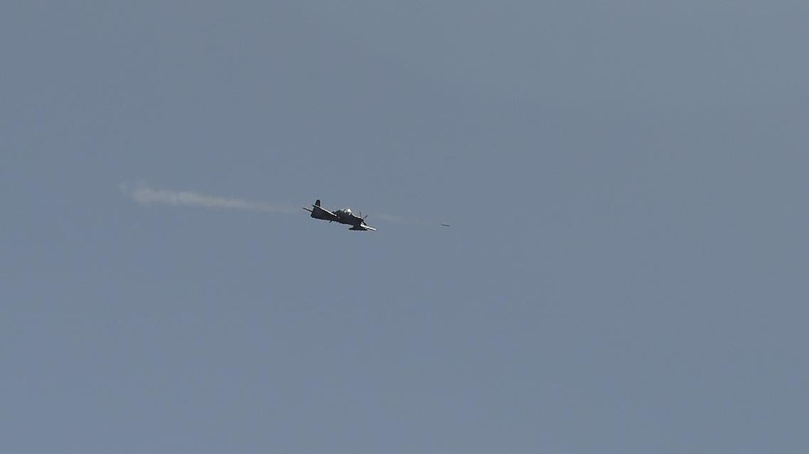 An Afghan Air Force Embraer A-29 Super Tucano aircraft fires a rocket during an airstrike training mission on the outskirts of Logar province. (File photo: AP)