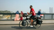 Egypt cyclist pedals to Russia to support team in World Cup
