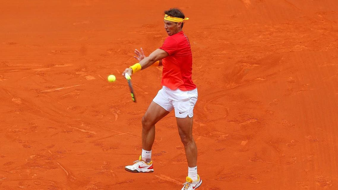 Spain's Rafael Nadal in action during his quarter final match against Germany's Philipp Kohlschreiber. (Reuters)