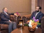 ولي العهد السعودي يلتقي وزير دفاع أميركا الأسبق بانيتا