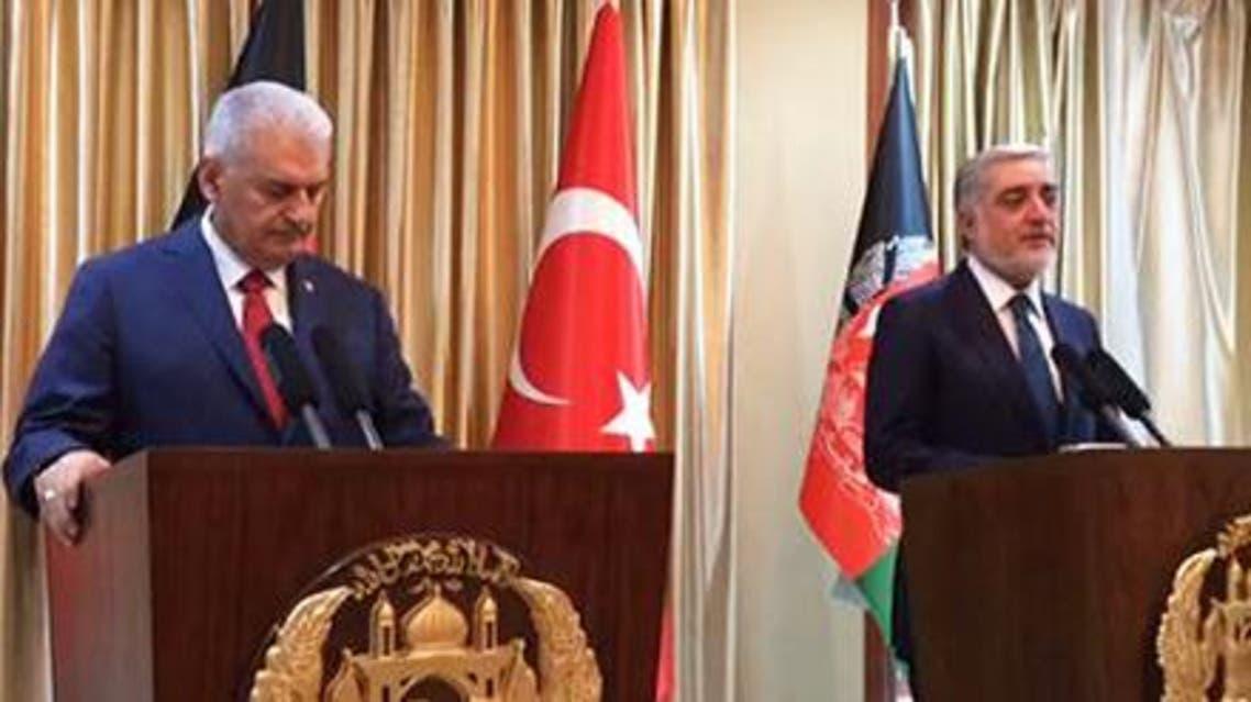 نخست وزیر ترکیه وارد کابل شد