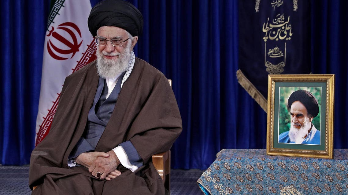 Iranian Supreme leader Ali Khamenei in Tehran on March 20 2018. (AFP)