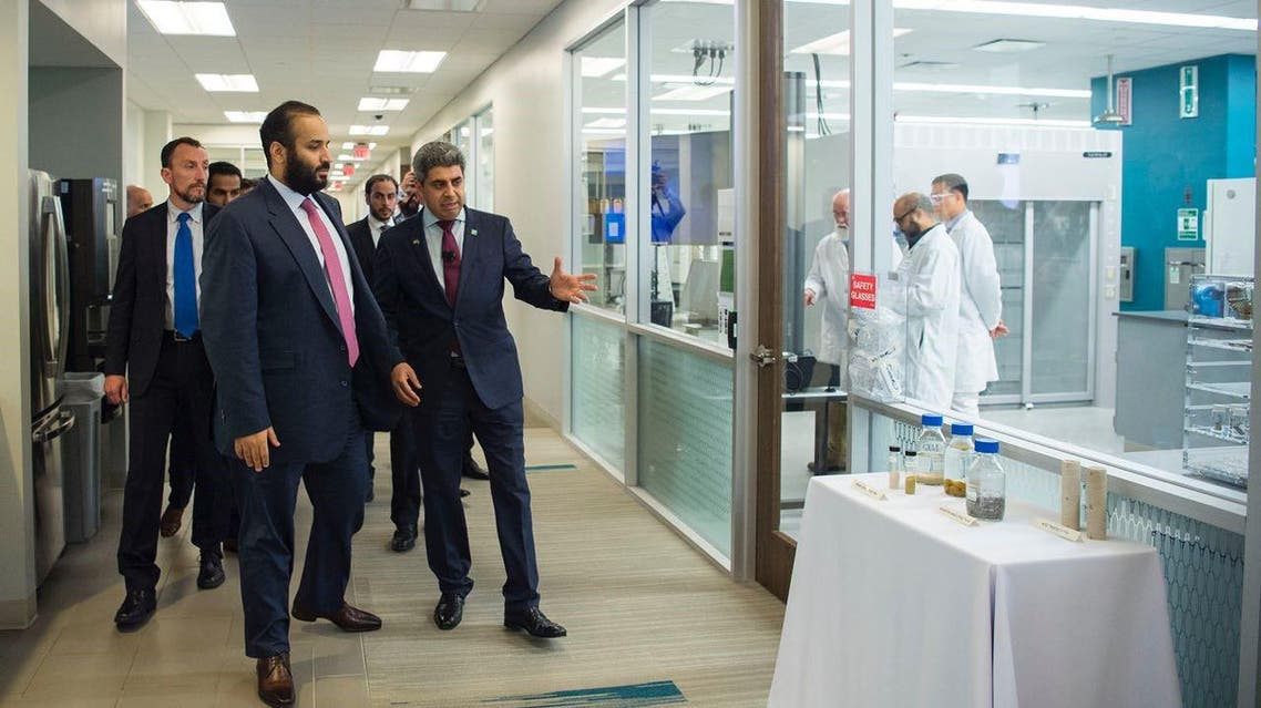 During his visit, the Crown Prince also inspected Aramco laboratories and met with staff.