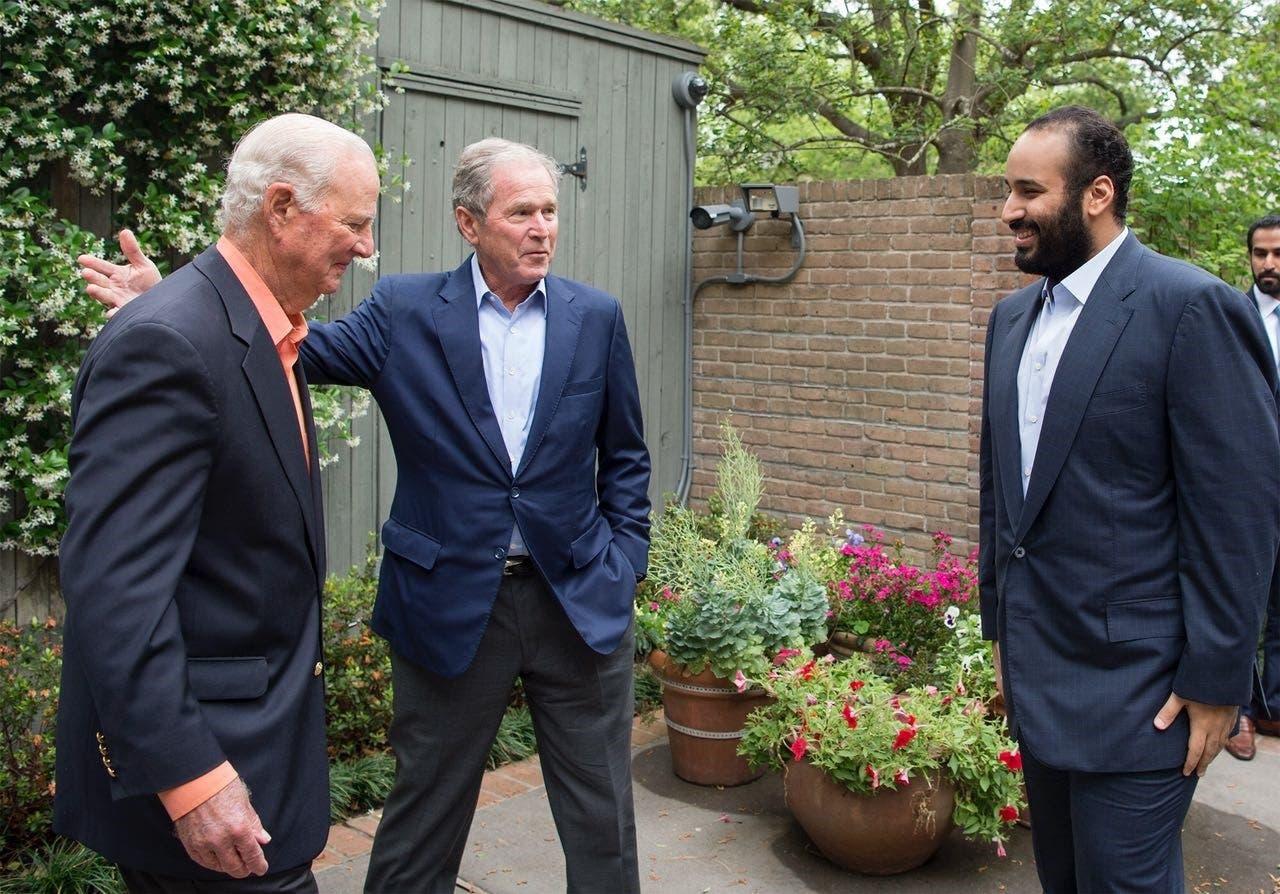 Bush Jr greets Saudi Crown prince