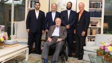 Saudi Crown Prince visits former US President George HW Bush
