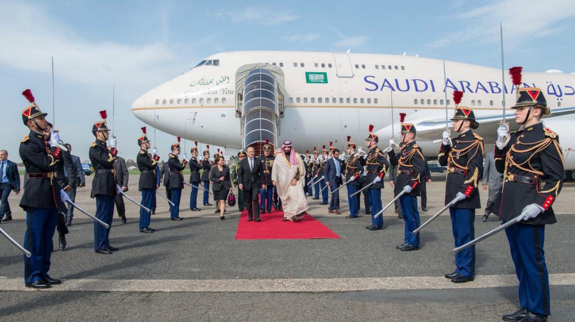 saudi crown prince in paris france. (SPA)