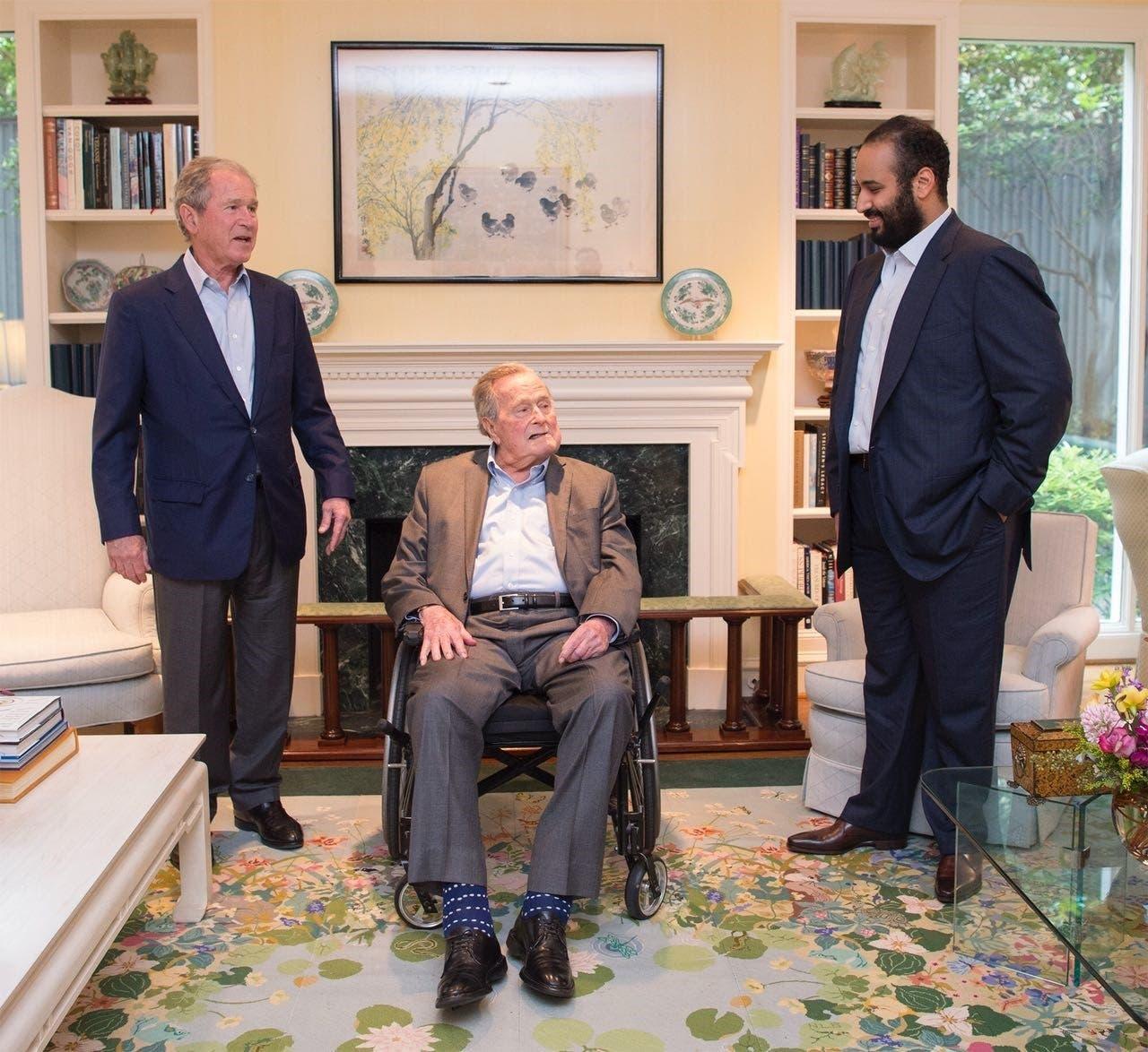 Saudi Crown Prince with Bush Senior and Junior
