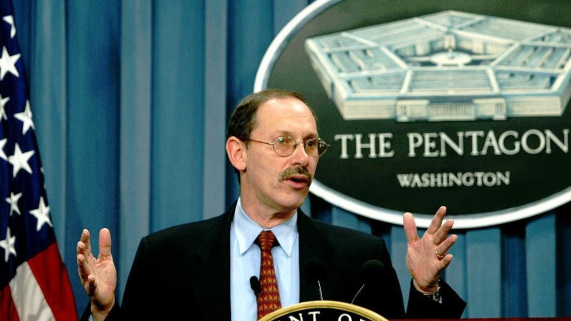 Undersecretary of Defense and Comptroller Dov Zakheim conducts a briefing on the 2004 fiscal year budget request for the Pentagon Monday Feb 3, 2003 in Washington. (File photo: AP)