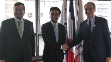 عبدالعزيز الفيصل يستقبل رئيس اللجنة الأولمبية الفرنسية