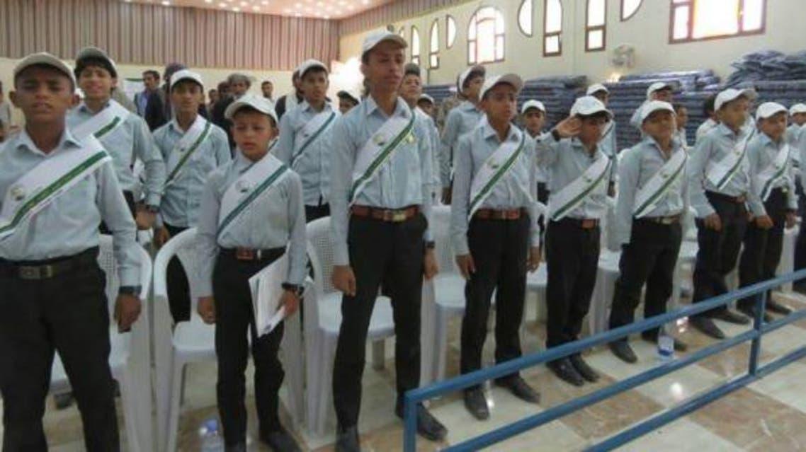 الأطفال المجندون في ختام دورة التأهيل ضمن مشروع مركز الملك سلمان