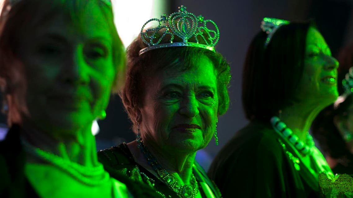 Holocaust survivors participate in a beauty pageant. (AP)