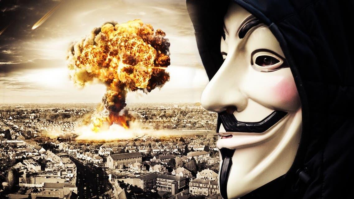 """الصورة نقلاً عن فيديو بثته قراصنة Anonymous على """"يوتيوب"""""""