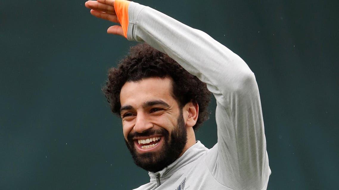 Mohamed Salah during training on April 9, 2018. (Reuters)