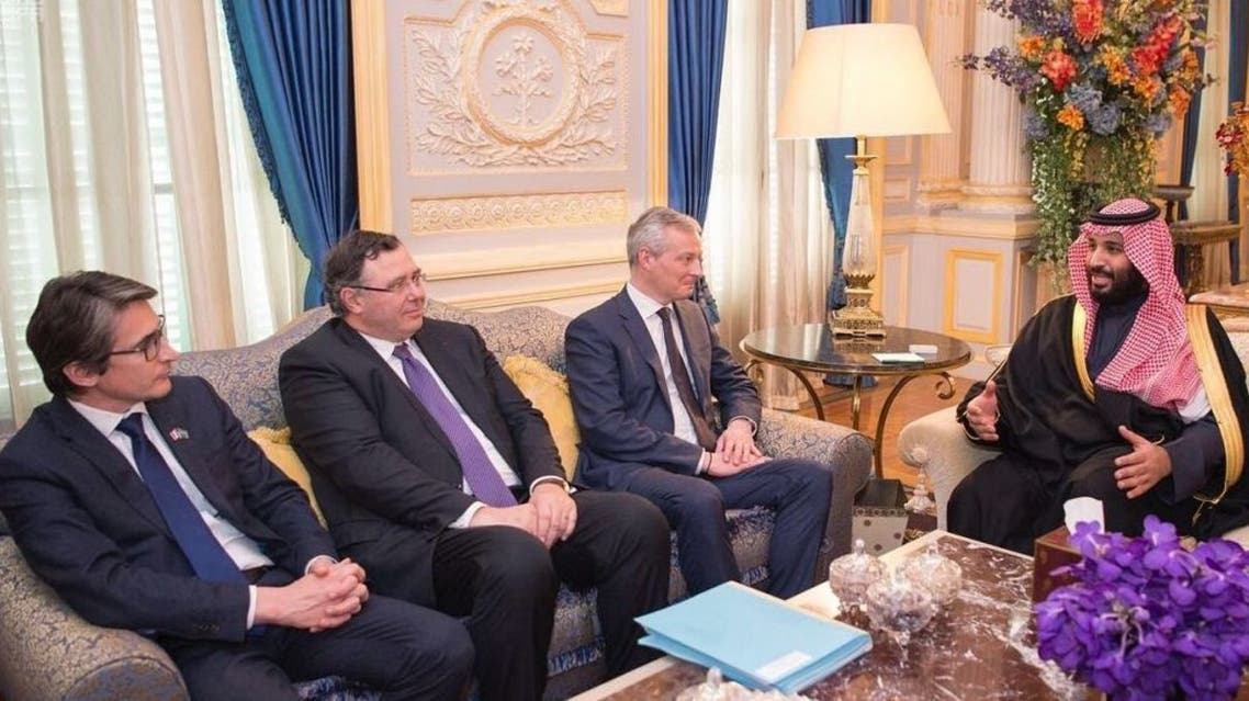 محمد بن سلمان ووزير الاقتصاد والمالية الفرنسي