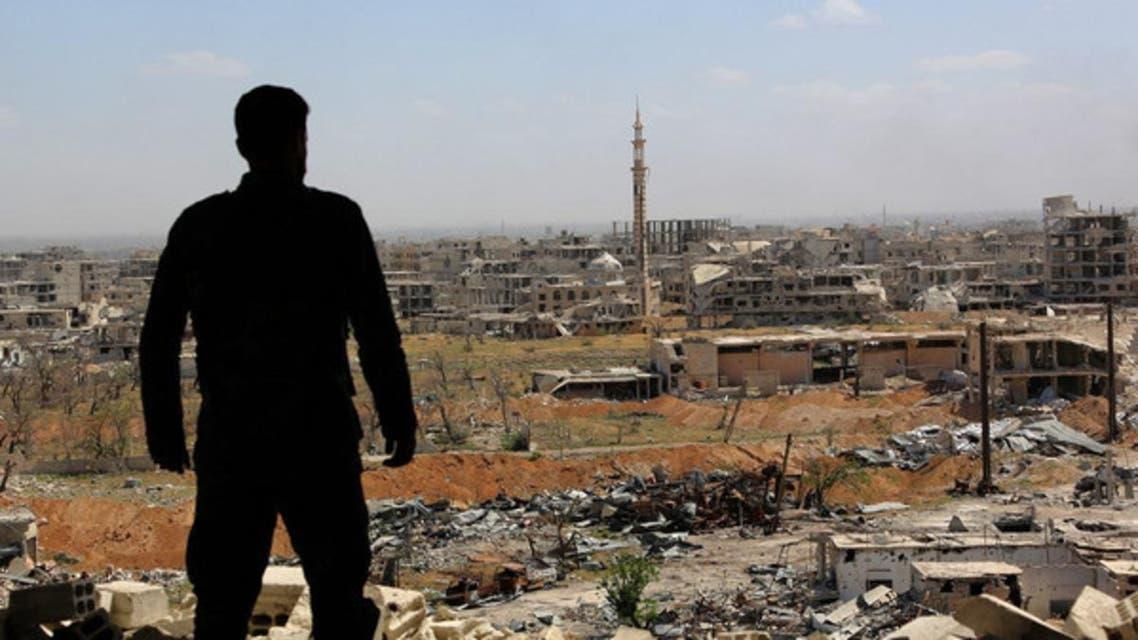 جندي من قوات النظام في محيط الغوطة (أرشيفية)