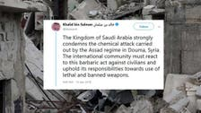 Saudi envoy to US: Syria chemical attack is continuation of Assad, Iran crimes