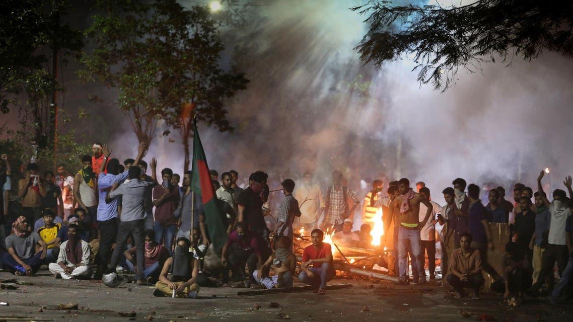 Dhaka University Bangladesh protests. (AFP)