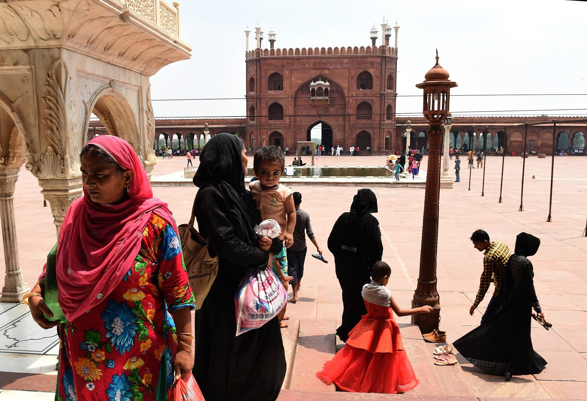 Indian Muslims visit the Jama Masjid mosque in New Delhi on August 22, 2017. (AFP)